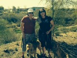 My sister Adrianne and I, taking a morning walk in the beautiful Arizona desert