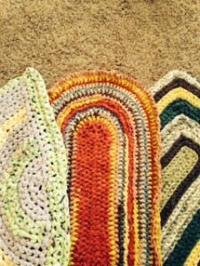 handmade colorful rag rugs