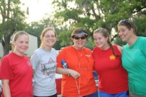 smiling camp staff