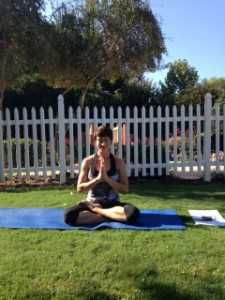 My yoga instructor-Namaste!