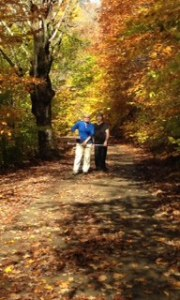 Fall colors on the trail-Betty and Susan