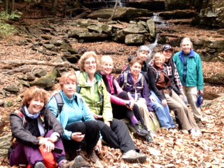 The Hens-lunch at the waterfall